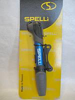 Насос велосипедный SPELLI SPM-196A с Т-ручкой (синий)