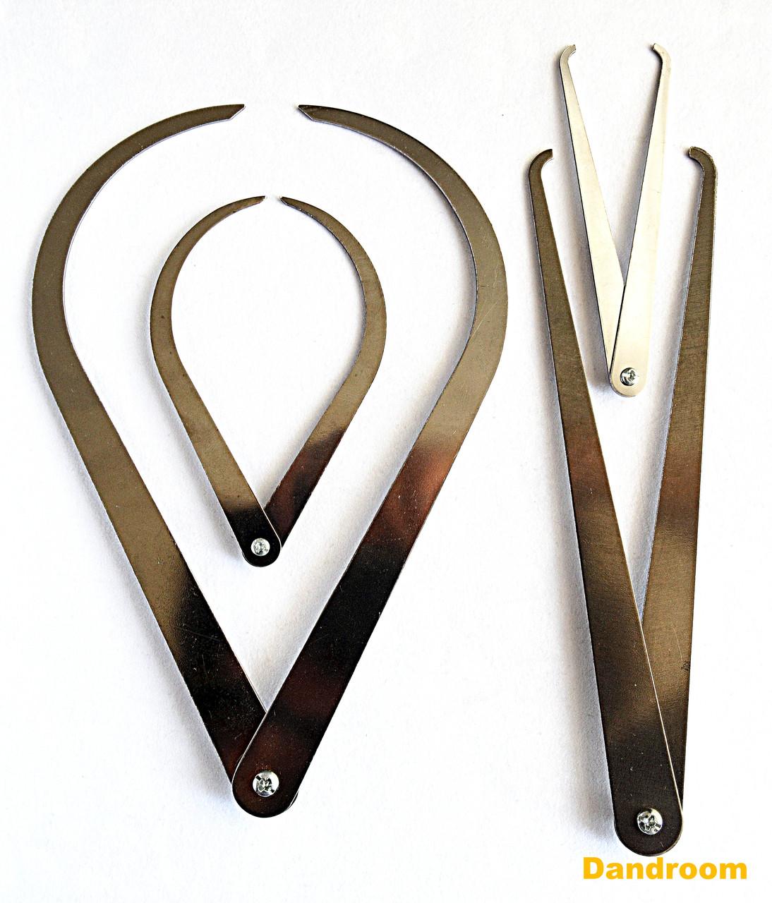Набір кронциркулей для зовнішніх і внутрішніх вимірів, 4 шт.