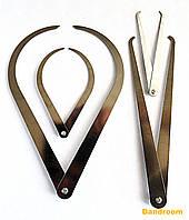 Набор кронциркулей для внешних и внутренних замеров, 4 шт.