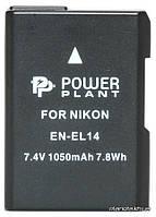 Аккумулятор (батарея) PowerPlant Аккумулятор к фото/видео Nikon EN-EL14 Chip (D3100, D3200, D5100) 1050mAh