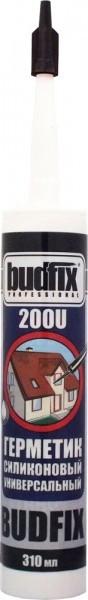 Герметик силиконовый универсальный BUDFIX 200U прозрачный, 310 мл (упаковка 40 шт)