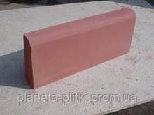 Бордюр тротуарний пресований 100х300х150 мм, червоний