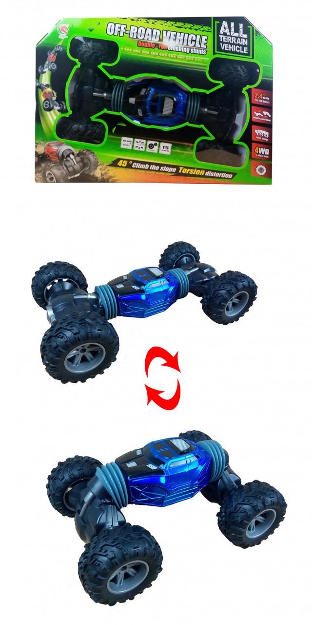 Машина на радиоуправлении Rock Crawler (1823-5) 4WD Перевертыш (синего цвета)