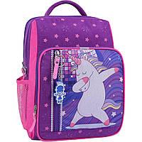 Школьный ортопедический рюкзак Bagland для девочек единорожек