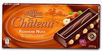 Шоколад черный с фундуком Chateau  Feinherb Nuss  200 г.