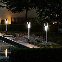 Комплект садовых фонарей на солнечной батарее, 10 шт