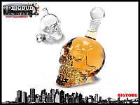 Графін Crystal Skull (у формі черепа) великий, 0,55 л / Графин стеклянный в форме Черепа большой,  550 мл, фото 1
