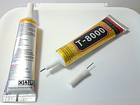 Клей-герметик прозрачный Zhanlinda T 8000, 15 мл, для приклеивания тачскрина, дисплея