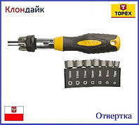 Отвертка и насадки TOPEX 39D523