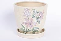 Горшок керамический с поддоном Цветы малый BonaDi RM1-285
