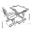 Комплект парта и стул-трансформеры FunDesk Sole Green, фото 2