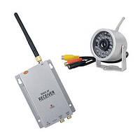 Комплект из беспроводной аналоговой уличной камеры WN-15 на 2.4 Ghz + приёмник видеосигнала (мод. WN-15 kit)