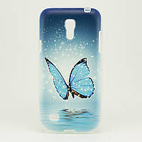 Чехол Print для Samsung S4 Mini силиконовый бампер Buterfluy