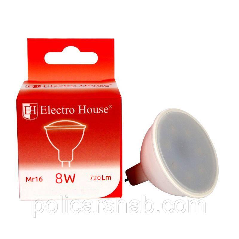 ElectroHouse LED лампа для точечных светильников MR16 8W