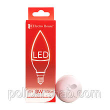 "ElectroHouse LED лампа ""свеча"" Е14 8W"