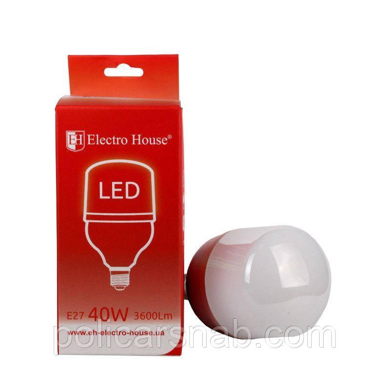ElectroHouse LED лампа Т100 Е27 40W