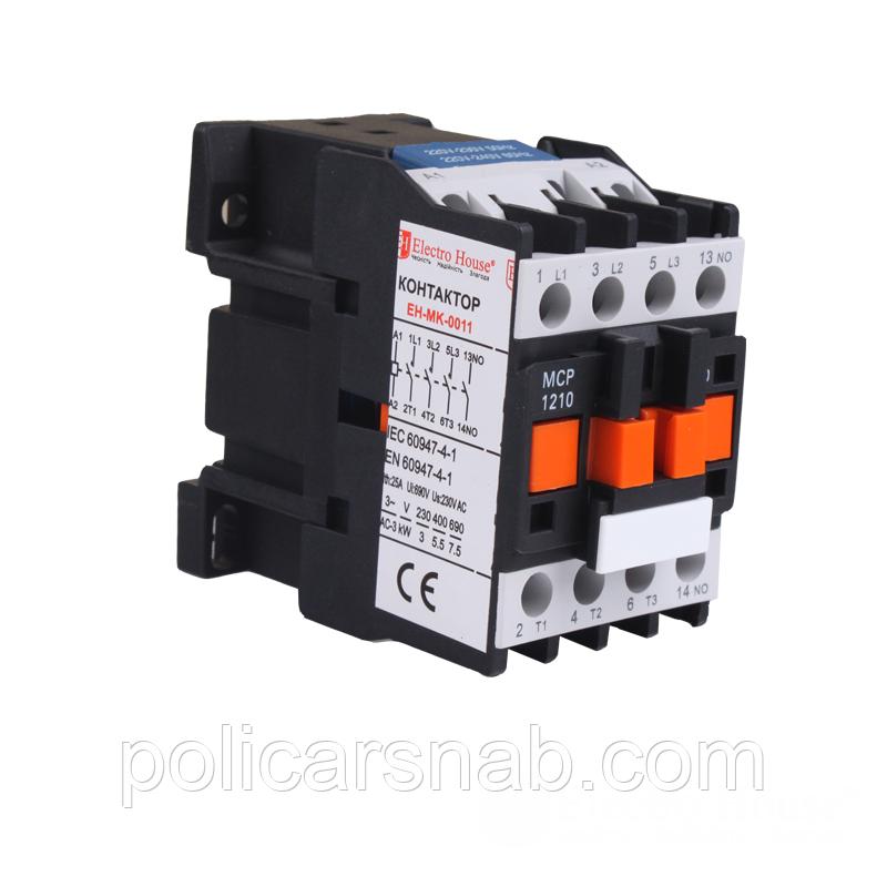 ElectroHouse Контактор магнітний 12A 3P 220V