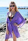 Пляжна туніка купити коротка парео пляжна туніка шифоновий халат, фото 8