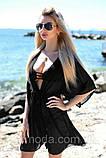 Пляжна туніка купити коротка парео пляжна туніка шифоновий халат, фото 10