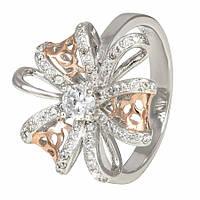 """Серебряное кольцо с позолотой и фианитами """"481"""""""