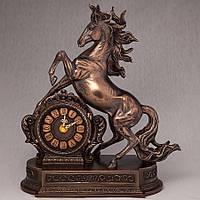 """Настольные часы Veronese """"Вздыбившийся конь"""" (28*32 см) 76235A4"""