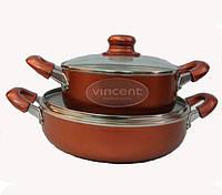 Набор посуды (Набор кастрюль) 4 предмета Vincent VC-3025