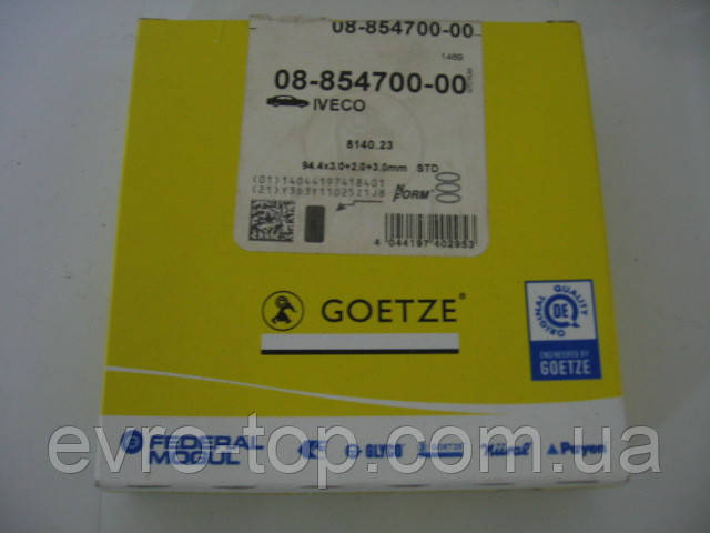 Комплект колец поршневых Goetze 08-854700-00 на Fiat Ducato, Iveco Daily, Opel Movano, Renault Master