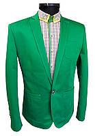 Пиджак приталенный №53L - К 416/17-6030 зеленый