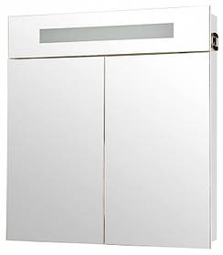 Зеркало АКВА РОДОС Ника 75 белое со шкафчиком