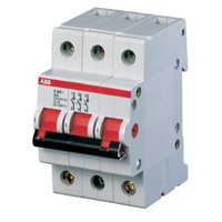 Выключатель нагрузки ABB E203r Рубильник 3Р 100A рычаг крас.
