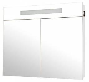 Зеркало АКВА РОДОС Ника 95 белое со шкафчиком