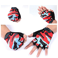 Перчатки камуфляжные Caroset с короткими пальцами для велоспорта и спортзала