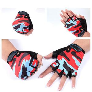 Рукавички камуфляжні Caroset з короткими пальцями для велоспорту та спортзалу