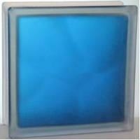 Стеклоблок матовый Blue «Волна» 1908\WМ с одной стороны - Чехия, фото 1
