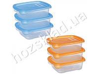 Набор емкостей для пищевых продуктов, цвета ассорти 700мл (цена за набор 3шт)