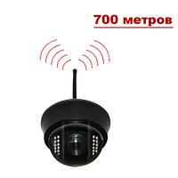 """Купольная беспроводная CCTV цветная охранная камера видеонаблюдения 1/3"""" COLOR SONY Super HAD II, Effio-E, 700"""