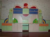 """Набор мебели для детского сада, стенка """"Цветочек"""""""