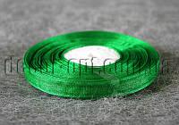 Лента органза зеленая 1 см 50ярд 19
