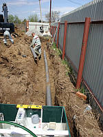 Услуги по прокладке труб кабелей