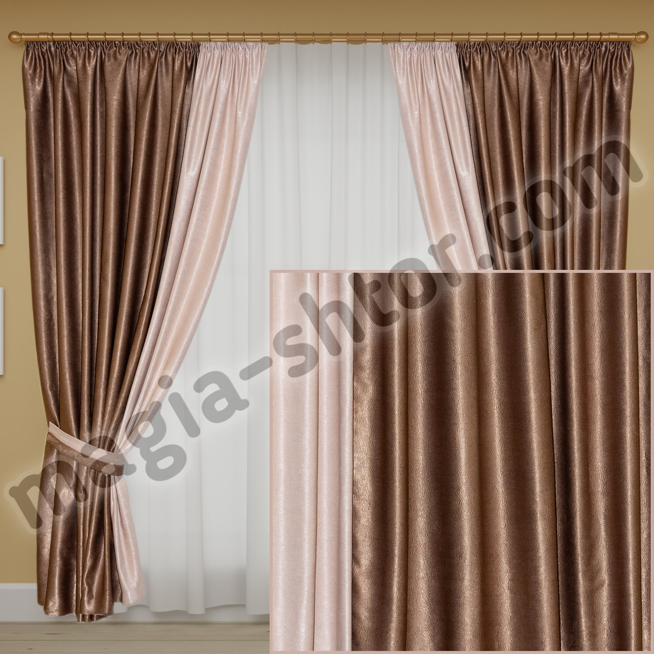 Готовые шторы в спальню