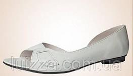 Балетки Alisa Gold  - кожа, открытый носок рр 37р