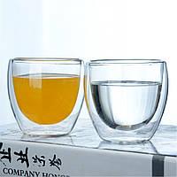 Набор стаканов с двойными стенками BoxShop 2 шт х 80 мл (G-4347), фото 1