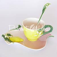 Подарочный набор 'Лимон' : чашка, блюдце, ложка