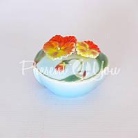 Шкатулка 'Цветы', h-4,5 см.