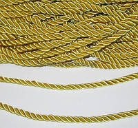 Канат декоративный золотой 5 мм