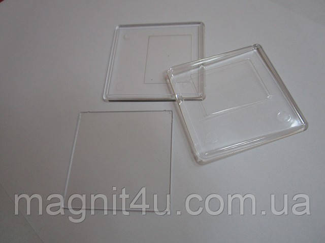 Акриловая заготовка без магнита (65х65), фото 1