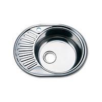 Врезная кухонная мойка из нержавеющей стали PLATINUM 5745 Декор 0.8 мм.