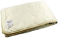 Одеяло стеганое облегченное Бязь Vladi (Влади) Молочный 170х210 Шерсть 100% (3057)