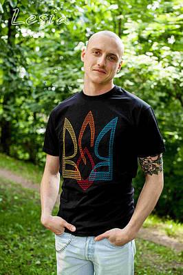 Чоловіча футболка з вишивкою Тризуб ВОЛЯ  продаж ad0d041dd4af4