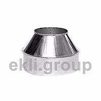 Димохідна верхівка (нижня) 1мм нержавейка/оцінковка діаметр внутрішній 450 зовнішній 550